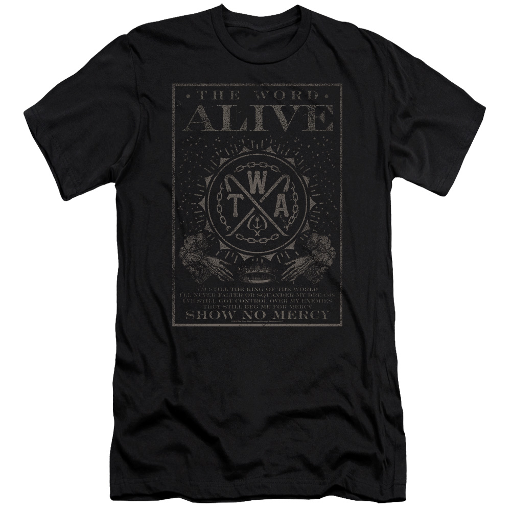 The Word Alive Show No Mercy Mens Slim Fit Shirt