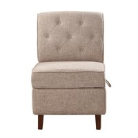 Storage Accent Chair, Taupe
