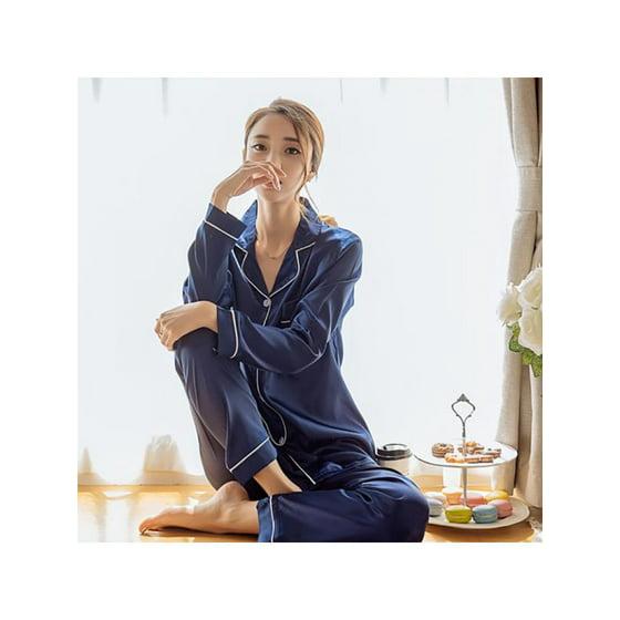 eda795829092 Winsellers - Winsellers Women Sexy Satin Emulation Silk Pajamas Sets ...