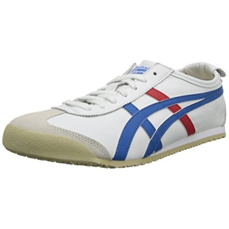 newest 08c30 f031e Onitsuka Tiger Men's Mexico 66 Fashion Sneaker, White/Red/Blue, 10 M US