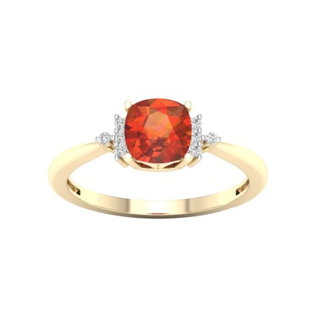 Madeira Citrine Gemstone - Imperial Gems 10K Yellow Gold Madeira Citrine 1/20 CT TW Diamond Women's Fashion Ring