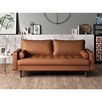 US Pride Furniture Gabler Wood Frame Mid-Century Sofa