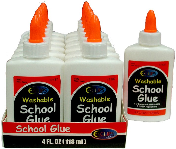 School Glue Bulk White 4 oz. Squeeze Bottle Case Pack of 48 by DDI