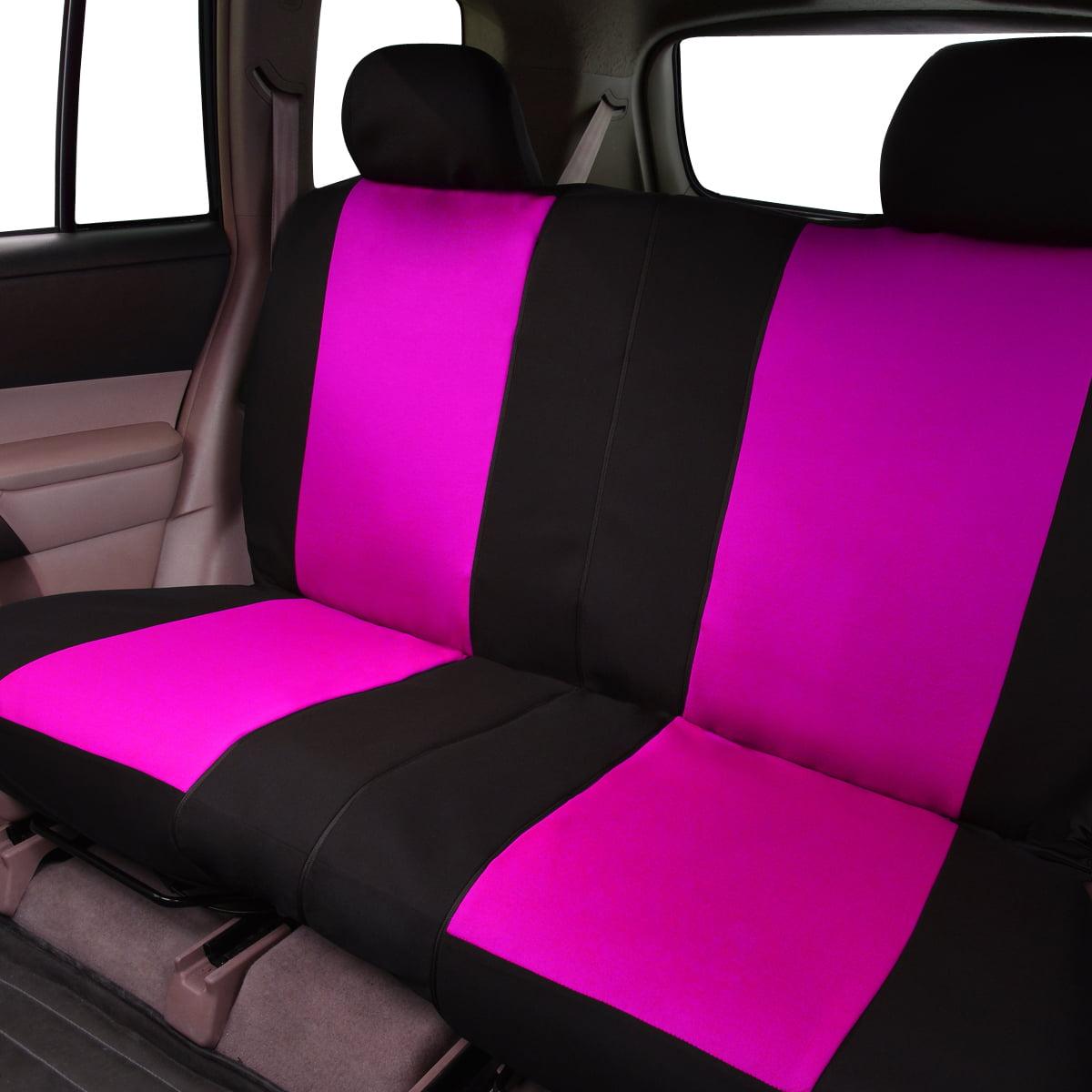 car pass housse de si ge auto universelle noir et rose. Black Bedroom Furniture Sets. Home Design Ideas