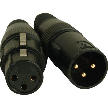 American Dj Connector - 3-Pin Male - Female XLR Connectors By American DJ