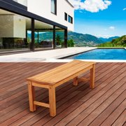 Amazonia Marth 51 in. Teak Backless Patio Bench
