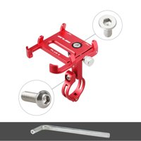 GUB Bicycle Phone Holder 360 Degree Rotating Length Adjustable Aluminum Bike Handlebar Mount Cycling Clip-on Phone Clamp Holder