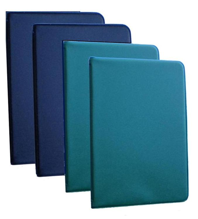 Mead (46000) Four Mini 6-Ring Memo Books - 2 Green and 2 Black - Each Containing 3 x 5 inch Lined Paper