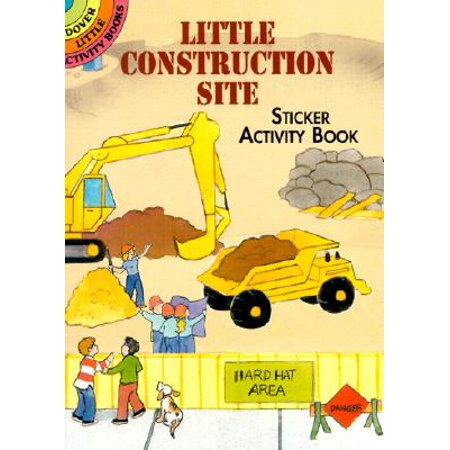 Little Construction Site Sticker Activity Book (Paperback) - Halloween Activities For Children's Church