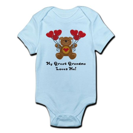 CafePress - My Great Grandma Loves Me! Infant Bodysuit - Baby Light