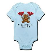 CafePress - My Great Grandma Loves Me! Infant Bodysuit - Baby Light Bodysuit