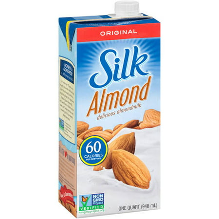 (4 pack) Silk Pure Almond Original Almond milk, 1 (Baking Almond Milk)