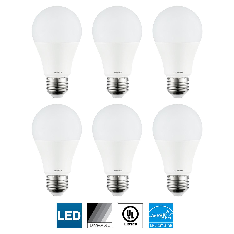 6-Pack Sunlite LED A21 Light Bulb, Dimmable, 15 Watts (100W Equal), Medium (E26) Base, 5000K Super White, 1600 Lumen, UL Listed, Energy Star