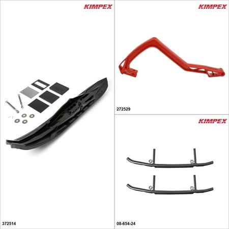 Kimpex - Arrow Ski Kit - Black, Ski-Doo Summit X 800 2004 Black / Red  (2004 Ski Doo Summit 800 For Sale)