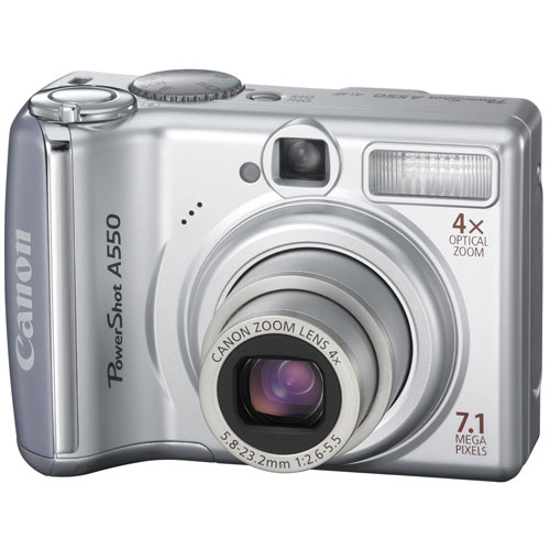 Canon PowerShot A550 7.1MP Digital Camera with 4x Optical...