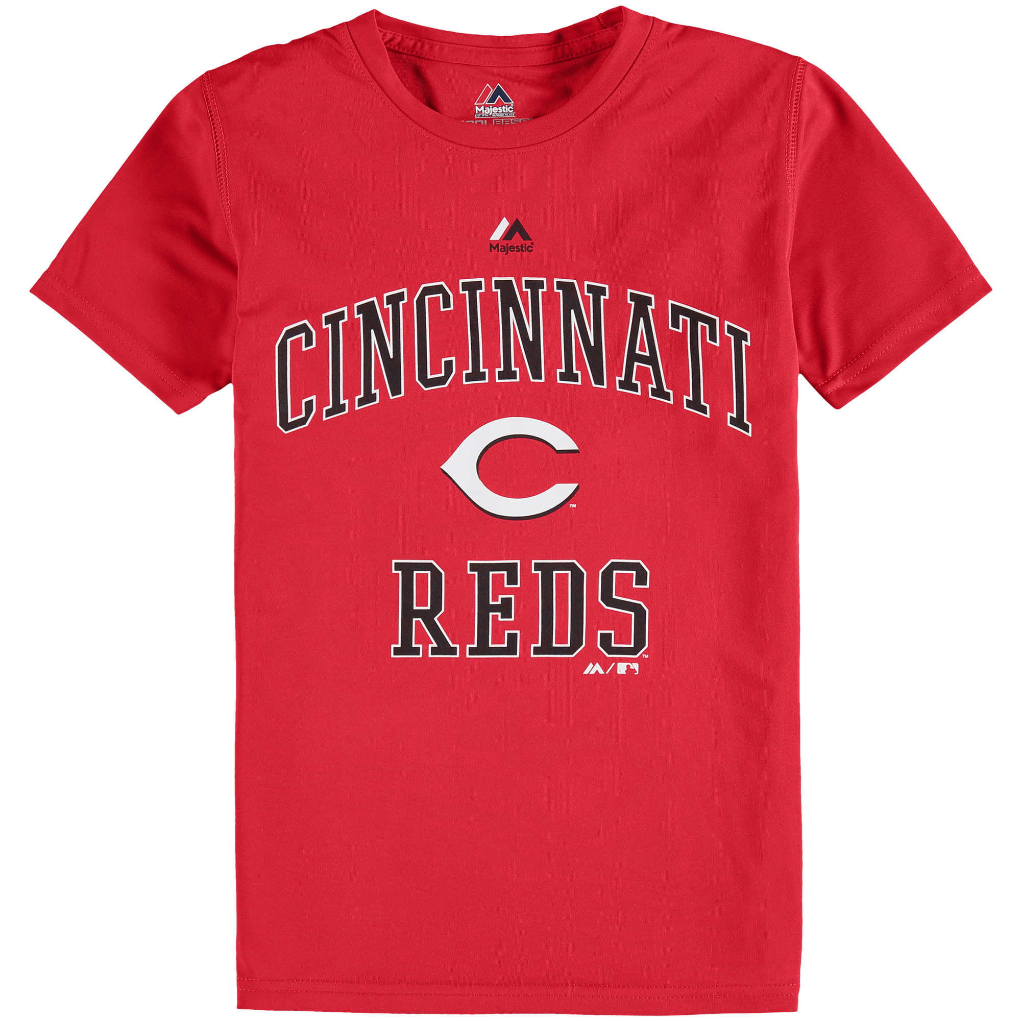 Cincinnati Reds Majestic Youth City Wide Cool Base T-Shirt - Red