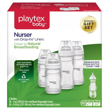Playtex Baby Nurser with Drop-Ins Liners Baby Bottle Newborn Gift