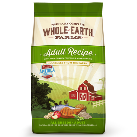 Whole Earth Farms Goodness From the Earth All Breeds Adult Dry Dog Food, 25