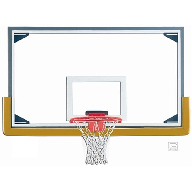 Gared Sports LXP4200 42 x 72 in. Regulation Glass Backboard with Steel Frame