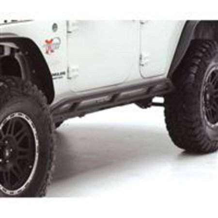 Smittybilt 2007-2018 Jeep Wrangler JK 4 Door SRC Rocker Guards- Black Textured