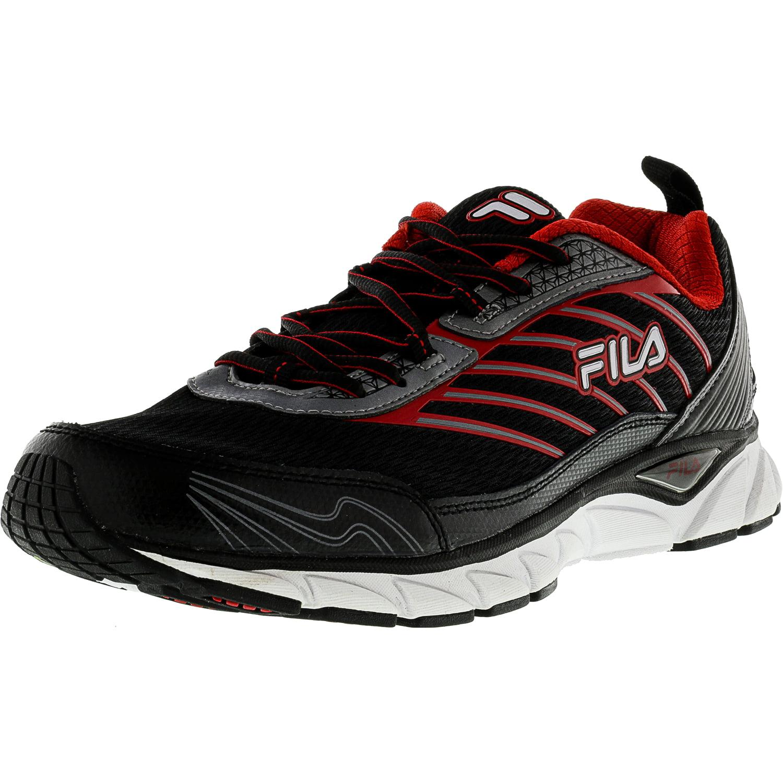 Fila Men's Forward Black   Dark Silver Red Ankle-High Running Shoe 10.5M by Fila