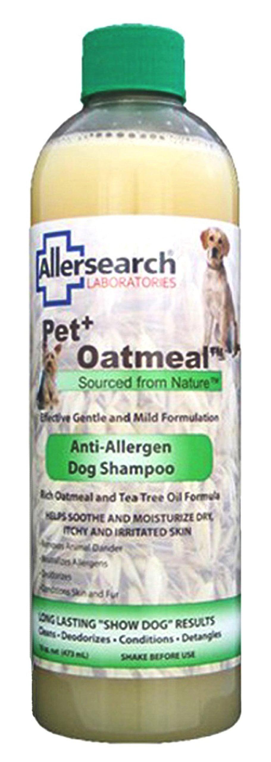 Allersearch Laboratories Pet Plus Oatmeal Anti-Allergen Dog Shampoo 16 oz. by