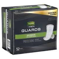 Depend Incontinence Guards for Men, Maximum Absorbency, Large, 52 Ct