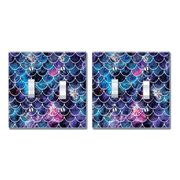 Wirester 2 Gang Toggle Wall Plate Switch Plate Cover 2pcs Mosaic Mermaid Scale Walmart Com Walmart Com
