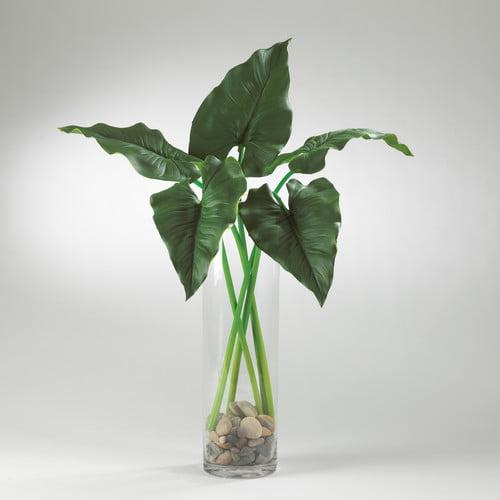 Saro Faux Botanicals Dynamic Calla Lily Leaf Branch (Set ...