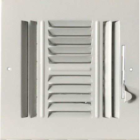 "6""x 6"" (Duct Opening Size) 4-Way Stamped Face Steel Ceiling/sidewall Air Supply Register - Vent Cover - Actual Outside Dimension 7.75"" X 7.75"""