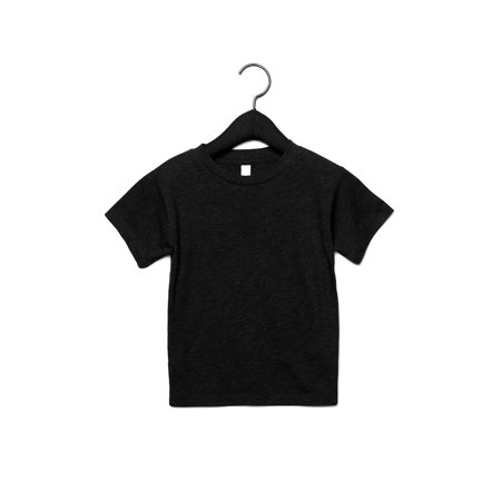 A Product of Bella + Canvas Toddler Triblend Short-Sleeve T-Shirt - CHAR BLACK TRIB - 4T [Saving and Discount on bulk, Code Christo]
