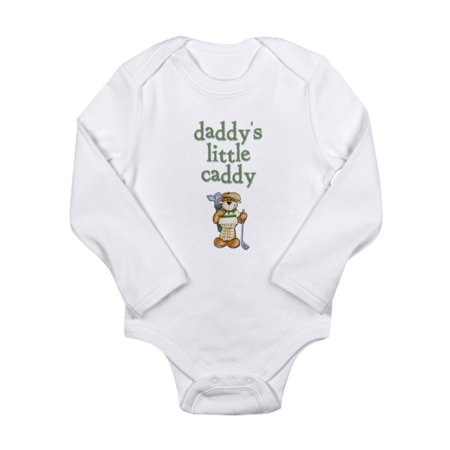 CafePress - Daddy's Little Caddy Infant Creeper Long Sleeve In - Long Sleeve Infant Bodysuit