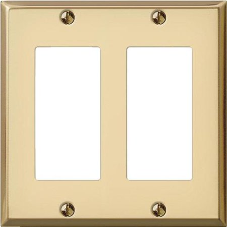 Polished Brass Stamped Decorator Wall Plate