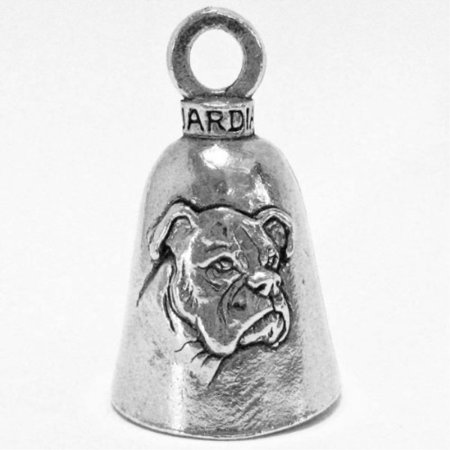 - guardian boxer breed dog motorcycle biker luck gremlin riding bell or key ring