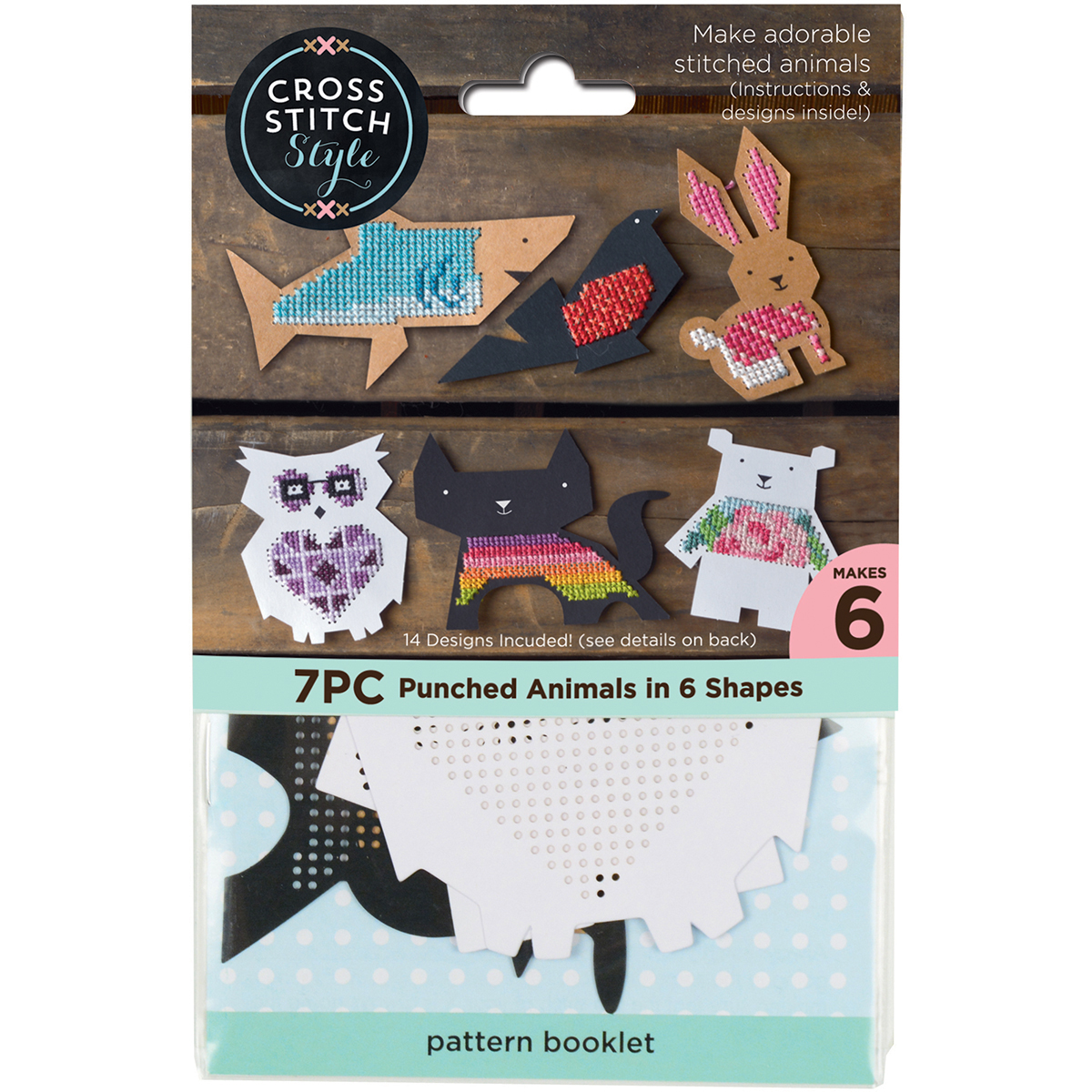 Animal Shapes Punched For Cross Stitch-6/Pkg