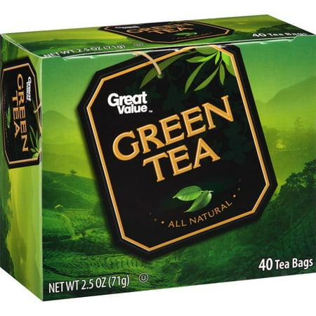 Great Value Green Tea Tea Bags, 40ct