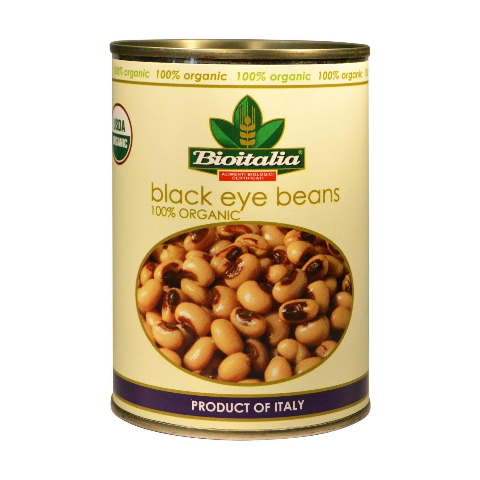 Bioitalia Beans - Black Eyed Peas - Pack of 12 - 14 Oz.