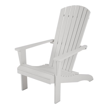 Mainstays Maudlow 7 Slat Wood Adirondack Outdoor Chair