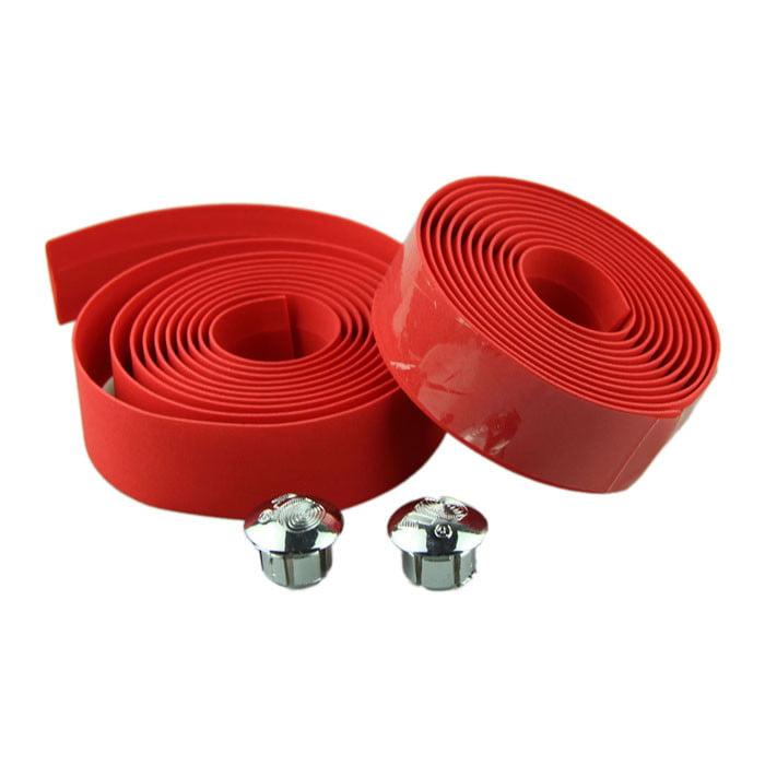 Handlebar Wrap Red NEW! Plastic Handlebar Tape /& Plugs