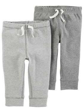 Carters Baby Boys 2-pk. Heather Stripe Pull-On Pants