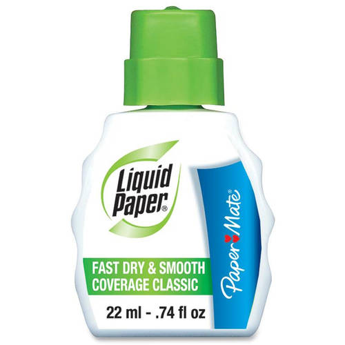 Paper Mate Liquid Paper Fast-Dry Correction Fluid