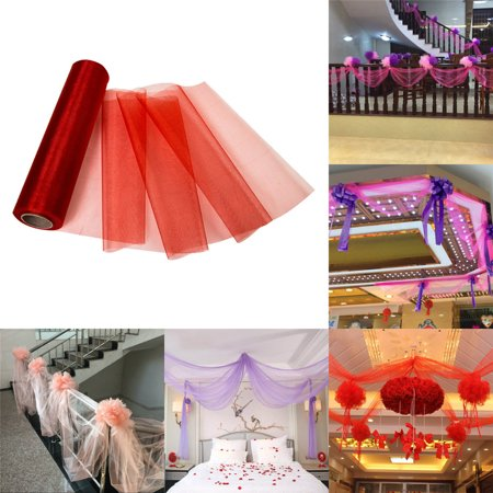 Yards Tulle Roll Spool Fabric Table Runner Chair Sash Bow Tutu Skirt Sewing Crafting Fabric Wedding Party Gift - Table Runner Roll