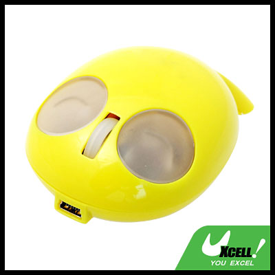 Plastic  USB PS/2 Optical 3 Buttons Computer Mouse Yellow