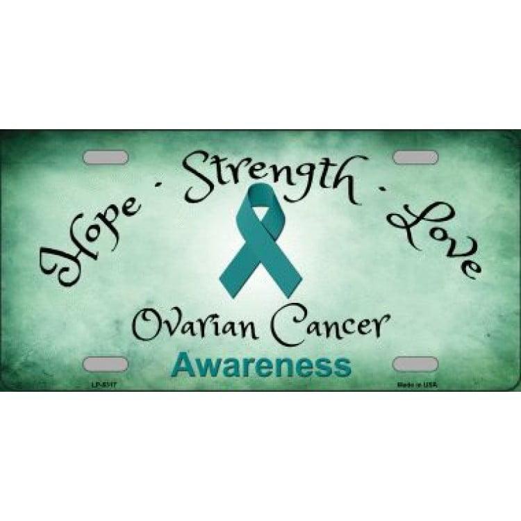 Ovarian Cancer Ribbon Metal License Plate Walmart Canada