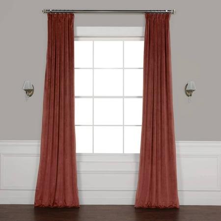 Velvet Drapery - Exclusive Fabrics  Heritage Plush Velvet Single Curtain Panel