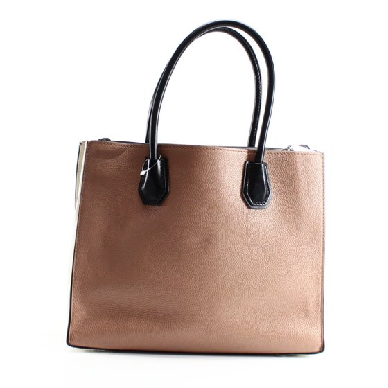 e2a4098b34c9 Material: Leather, Canvas, Polyester. Michael Kors Women's Mercer Large  Leather Tote Bag Cashew Ecru Black OS