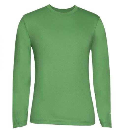 Terramar Men's Drirelease Long Sleeve Crew T-Shirt (X-Large, Olive)