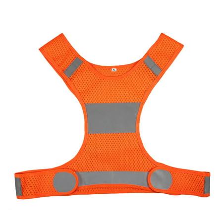 Outdoor Running Reflective Vest Adjustable Lightweight Safety Vest Sports Gear for Women Men Jogging Cycling Walking Mens Cycling Vest