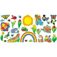 "Trend Enterprises Spring Things Bulletin Board Set, 17.37"" x 11.5"", Set of 31"