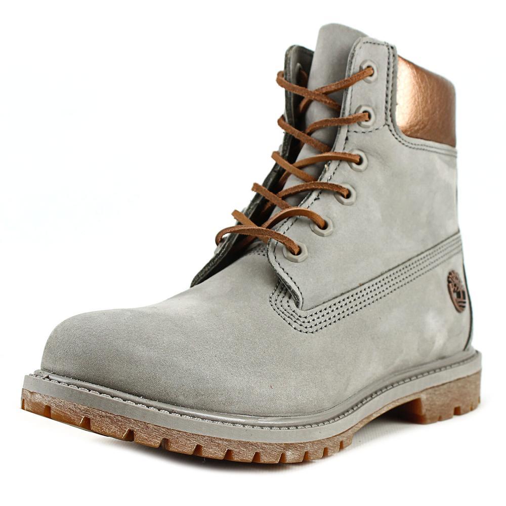 Timberland 6 Inch Premium Metallic Women Round Toe Leather Boot by Timberland